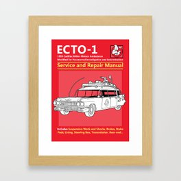 ECTO-1 Service and Repair Manual Framed Art Print