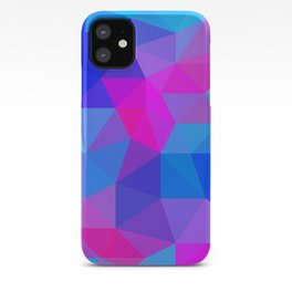 Magenta Blacklight Low Poly iPhone Case