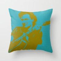 u2 Throw Pillows featuring Bono - U2 by Tipsy Monkey