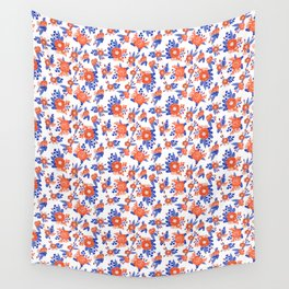 Florida floral orange and blue gators swamp varsity minimal university sports football fan Wall Tapestry