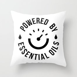 CUTE PRETTY ESSENTIAL OIL DIFFUSER productS - POWERED BY Throw Pillow