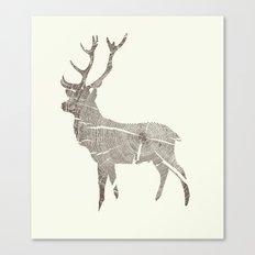 Wood Grain Stag Canvas Print