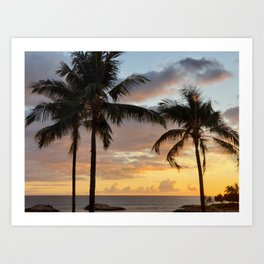 Oahu Sunset Art Print