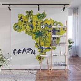 Abstract Brazil Soccer Mural Wall Mural