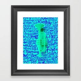 Lyrics & Type - Johnny Cash Framed Art Print