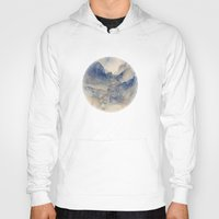 mountains Hoodies featuring Tulle Mountains by Klara Acel