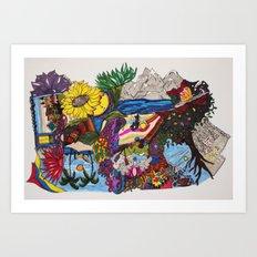 rotational doodle Art Print