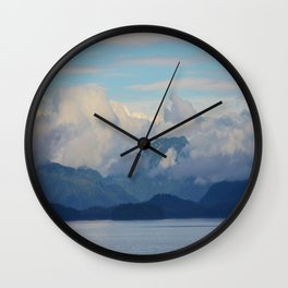 The Freedom of the Alaskan Mountains Wall Clock