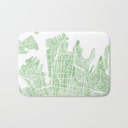 Sydney Australia watercolor city map Bath Mat