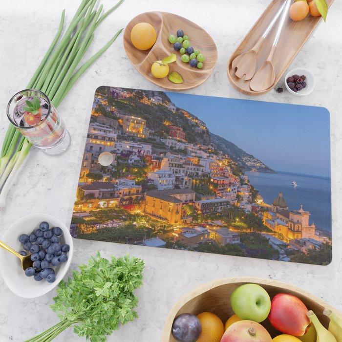 A Serene View of Amalfi Coast in Italy Cutting Board