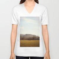 kentucky V-neck T-shirts featuring Kentucky Hills by KimberosePhotography