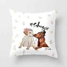 #schnuggis Throw Pillow