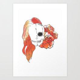 Split Image (Orange) Art Print