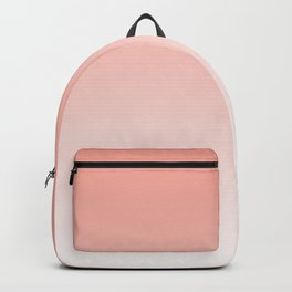 Delicate coral and white. gradient. Backpack