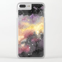 Galaxy Watercolor Art Clear iPhone Case
