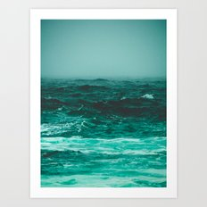 the bluest thing on earth Art Print