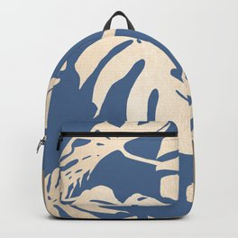 Simply Tropical Palm Leaves White Gold Sands on Aegean Blue Backpack