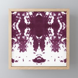 Velvet Kumo Shibori Plum Framed Mini Art Print