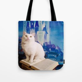 The tale of Tyche the white kitty Tote Bag