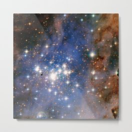 Star cluster Trumpler 14 in the Milky Way (NASA/ESA Hubble Space Telescope) Metal Print