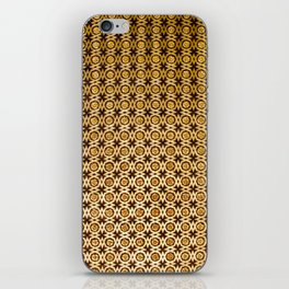 Gold and wood carving pattern iPhone Skin