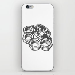 """Fashion Modern Design Print """"Brass Knuckles""""! Rap, Hip Hop, Rock style and more iPhone Skin"""