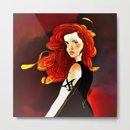 Clary Fray from The Mortal Instruments by Cassandra Clare Metal Print