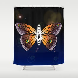 Butterfly//Ascend Shower Curtain