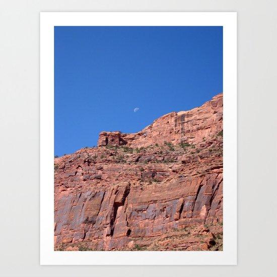 Utah Moon Art Print