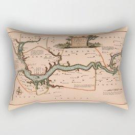 Map Of Gambia 1745 Rectangular Pillow