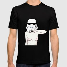 Moustachetrooper Black Mens Fitted Tee MEDIUM