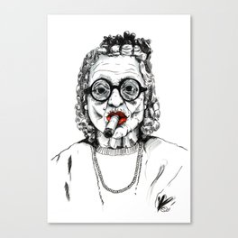 Woman with Cigar Canvas Print