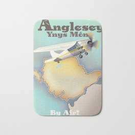 Anglesey Vintage style travel poster. Bath Mat