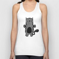 kitty Tank Tops featuring Kitty by Studio14