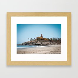 Beach House on the Hill Framed Art Print