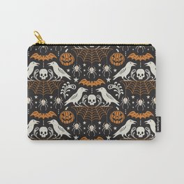 All Hallows' Eve - Black Orange Halloween Carry-All Pouch