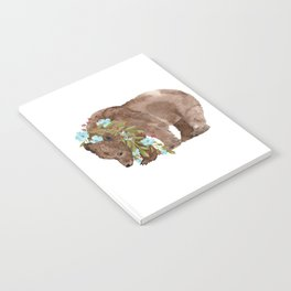 Bear with flower boa Notebook