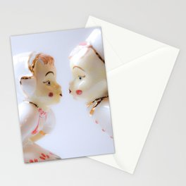 Kissing Boy and Girl- Vintage Figures Stationery Cards