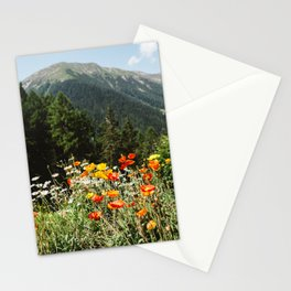 Mountain garden in Switzerland mountains Stationery Cards