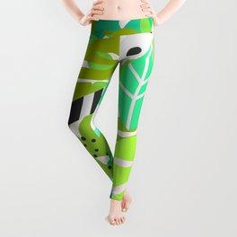 Green quiet jungle Leggings