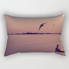 Fight to the Island Rectangular Pillow