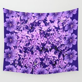 LILAC PURPLE SPRING PHLOX FLOWERS CARPET Wall Tapestry