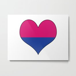 Gender Binary Heart Metal Print
