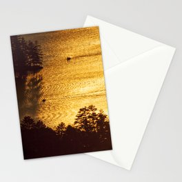 Golden Waters on Newfound Lake Stationery Cards