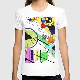 Retro Crazy - Abstract, random, crazy, geometric, colourful artwork T-shirt