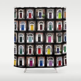 Dublin Doors Shower Curtain