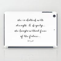 pocketfuel iPad Cases featuring SHE IS - B & W by Pocket Fuel