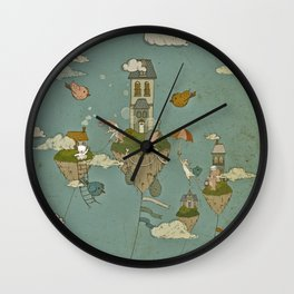 Floating Islands Wall Clock