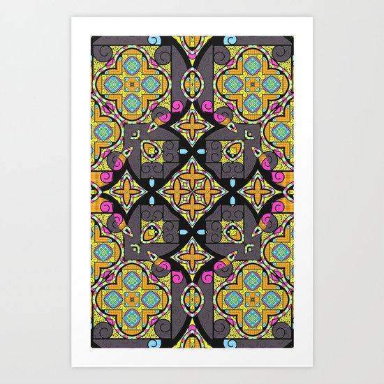 Happy Summer mandala Art Print