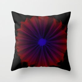 Blue Sprial Throw Pillow